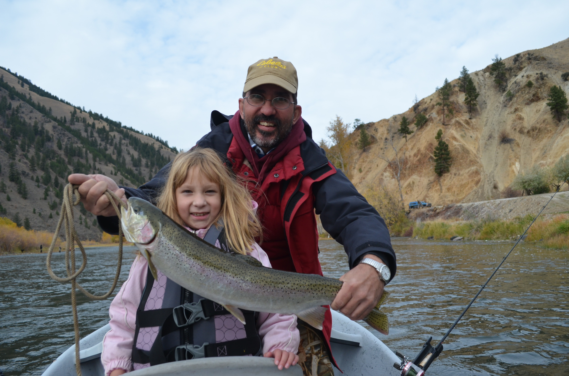 Joe and Lindsey tag-teamed to bring in this fall steelhead